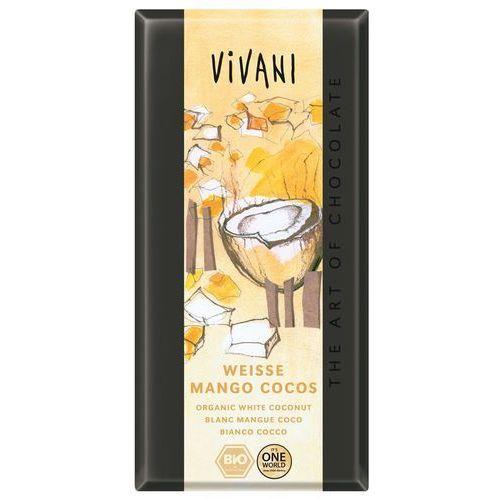 Vivani Czekolada biała mango kokosowo - jogurtowa bio 100g -