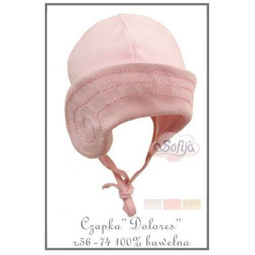 Ciepła czapka / kapelusik z haftem - dolores / różowa, marki Sofija