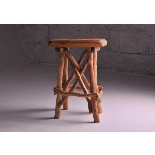 Konar meble kolbudy Taboret stołek dębowy rustica