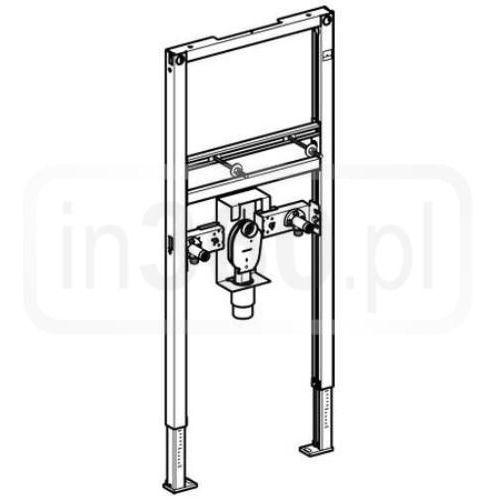 duofix - element montażowy do umywalki szpitalnej dla baterii stojącej, h112 111.480.00.1, marki Geberit