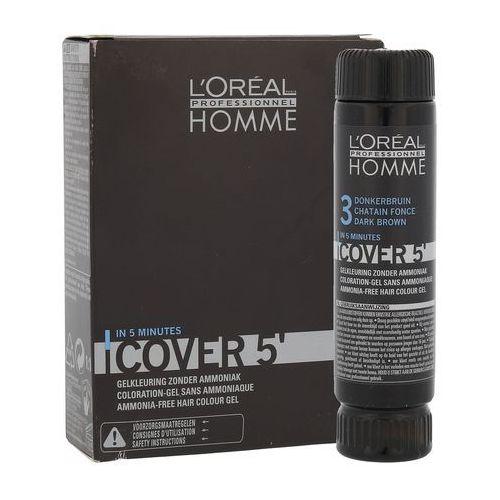 L'oréal profesionnel série expert homme cover 3 farba żel do koloryzacji włosów dla mężczyzn 50ml marki L'oréal professionnel