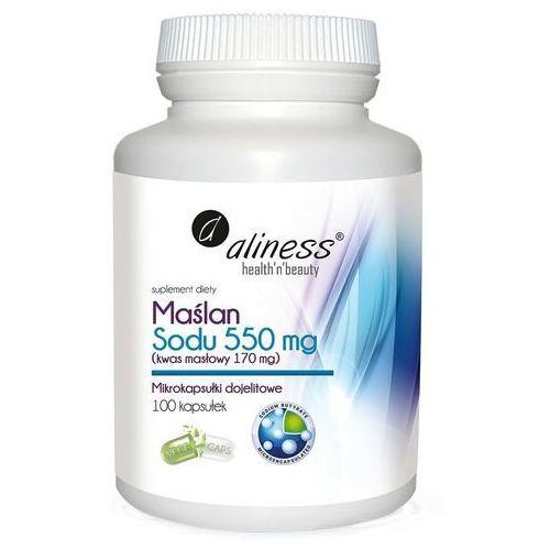 Aliness - Maślan Sodu 550mg - 100kaps VEGE, ALINESS130