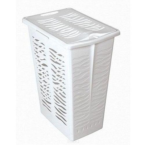 Branq Kosz na bieliznę zebra 30l - biały (5901098140119)