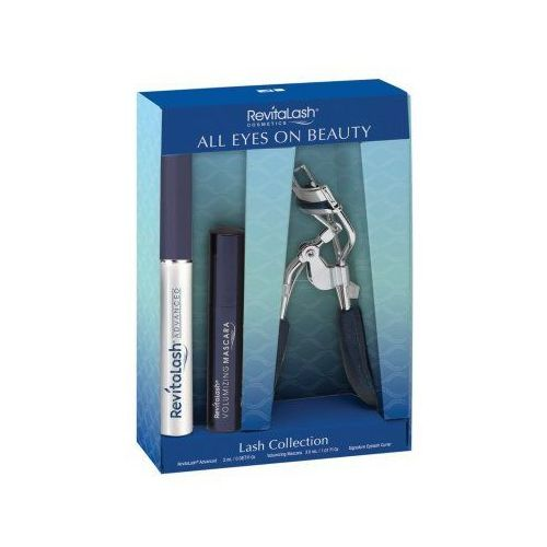 Set  all eyes on beauty (w) odżywka do rzęs advanced eyelash conditioner 2ml + tusz do rzęs volumizing mascara-raven 3ml + zalotka do rzęs marki Revitalash