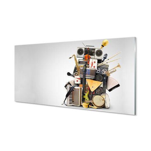 Obrazy akrylowe Radio mikrofon ukulele