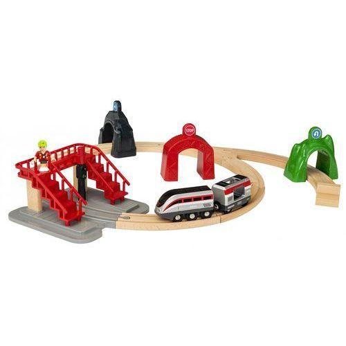 Brio ® world smart tech pociąg z tunelem, zestaw duży (7312350338737)