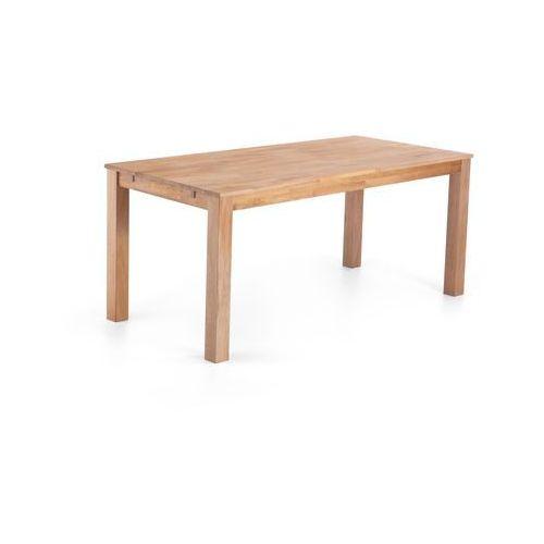 Stylowy stół dębowy jasnobrązowy 150x85x78 cm MAXIMA ze sklepu Beliani