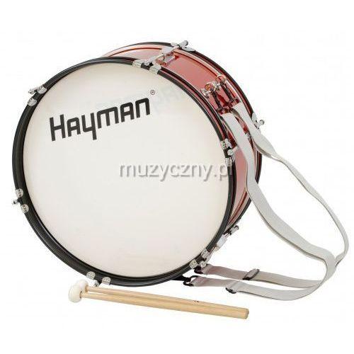 Hayman jmdr-1807 bęben basowy marszowy 18x7″ z nosidłem