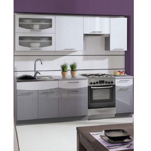 Zestaw mebli kuchennych Smile Fala White/Grey 2,4 m z WS produkcji Stolkar | Transport Gratis ! z kategorii zestawy mebli kuchennych