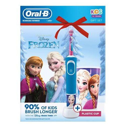 Oral-b elektryczna szczoteczka do zębów vitality frozen + kubeczek (4210201307730)