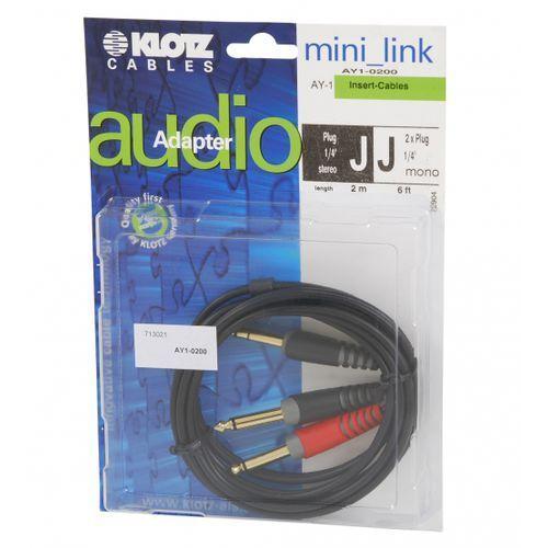 ay1 0200 kabel insertowy trs / 2xts 2m marki Klotz
