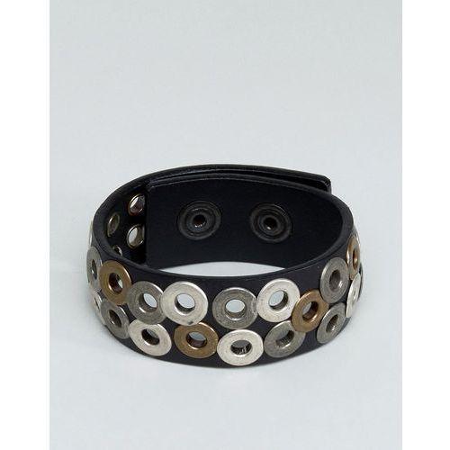 Diesel A-Quirk Eyelet Bracelet In Black - Black
