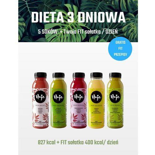 Nuja Dieta oczyszczająca 3 dniowa / dieta sokowa / detoks sokowy