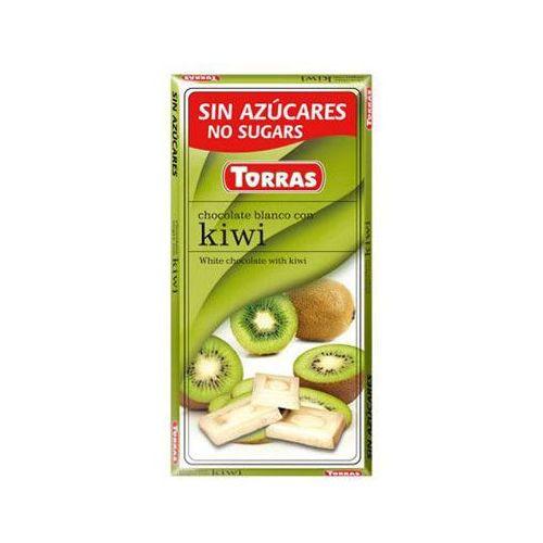 Torras Czekolada biała z kiwi 75g - (8410342007001)