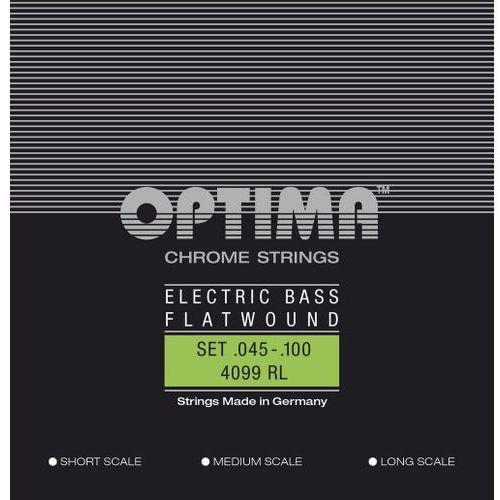 Optima 4099M (680545) struny do gitary basowej Chrome Strings Flat Wound Komplet