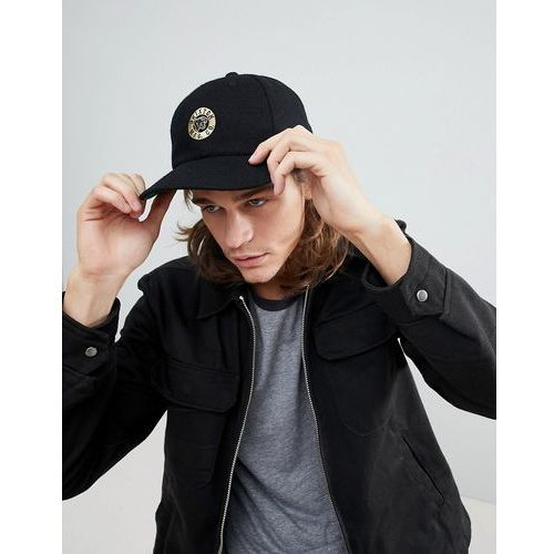 Brixton Prowler Snapback Cap With Logo - Black, kolor czarny
