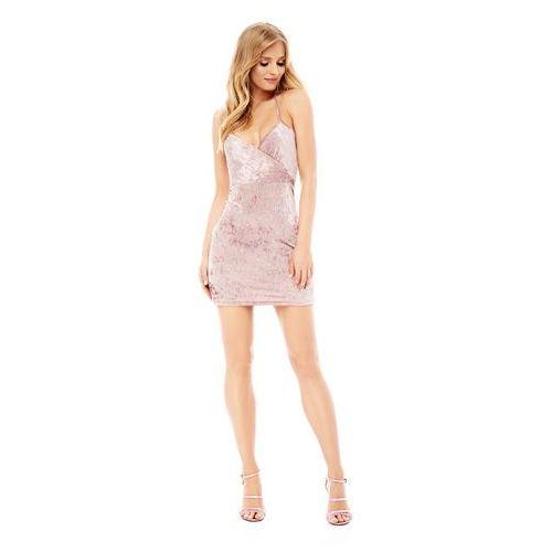 Sukienka Giada w kolorze różowym, kolor różowy