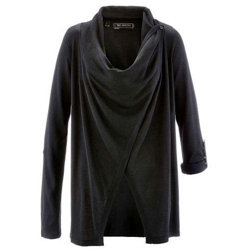 Sweter rozpinany czarny, Bonprix, 36-58