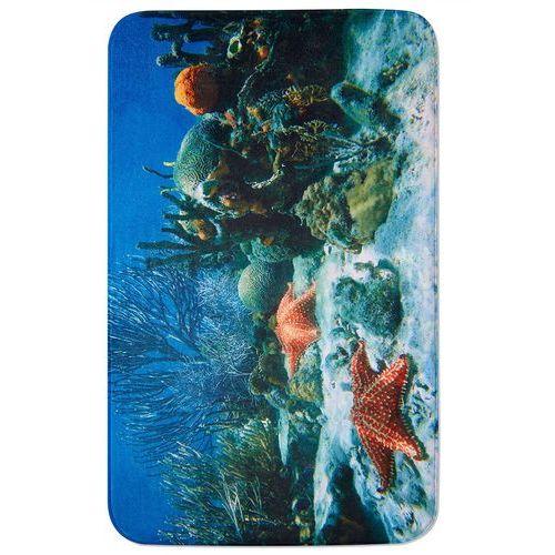 """Dywaniki łazienkowe """"Rafa koralowa"""", pianka memory bonprix niebieski"""