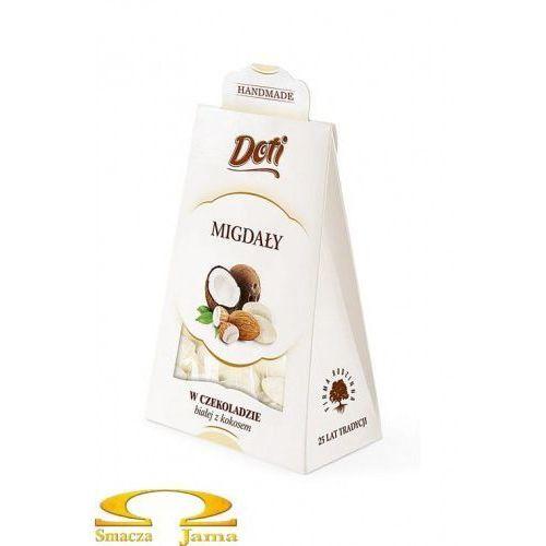 Migdały w białej czekoladzie z kokosem 100g kartonik, 67D1-220A2