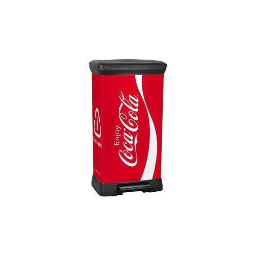 Kosz na odpady Deco Bin z pedałem 50 l Coca Cola - produkt dostępny w Eco-market.pl