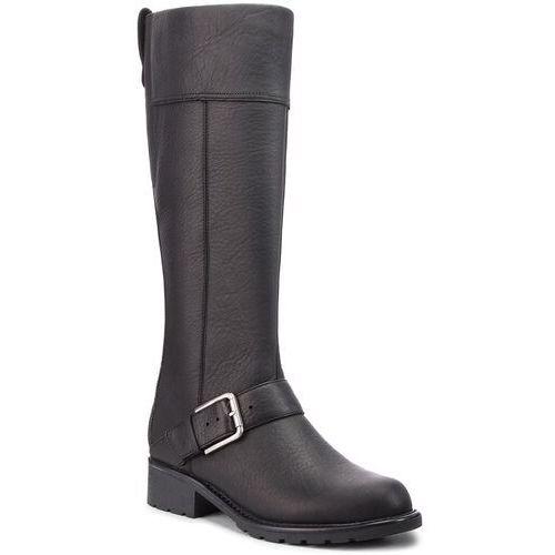 Oficerki CLARKS - Orinoco Jazz 261381964 Black Warmlined Leather, kolor czarny