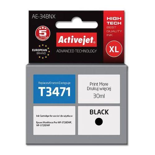 Activejet Tusz ae-34bnx (do drukarki epson, zamiennik t3471 supreme 30ml czarny) (5901443108832)