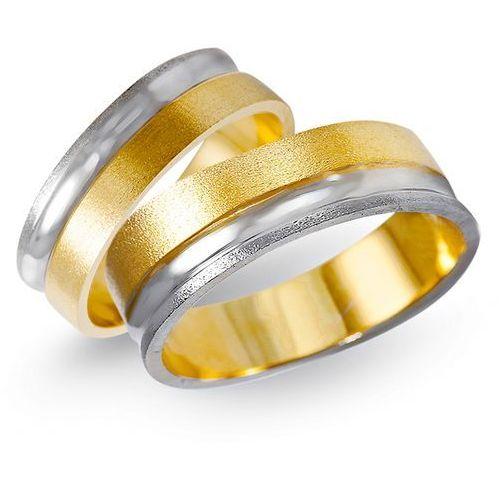 Obrączki z żółtego i białego złota 6mm - O2K/162 - produkt dostępny w Świat Złota