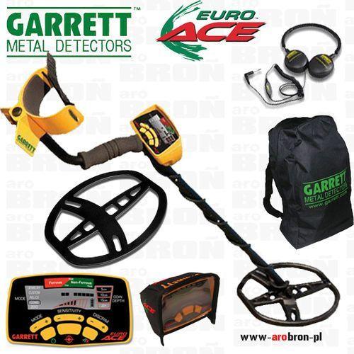 Wykrywacz metalu GARRETT EURO ACE 350 + OSŁONA CEWKI + 4 AKUMULATORY AA Eneloop + słuchawki ze sklepu www.arobron.pl