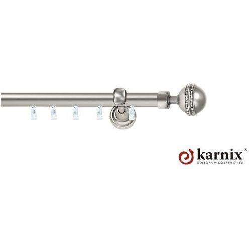 Karnisz szynowy ASPEN pojedynczy 25mm Melba Crystal chrom mat, Karnix