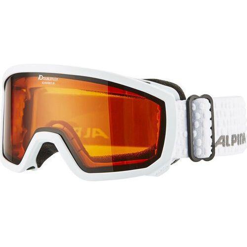 Alpina Scarabeo Doubleflex S2 Gogle Dzieci biały 2018 Gogle narciarskie (4003692241368)