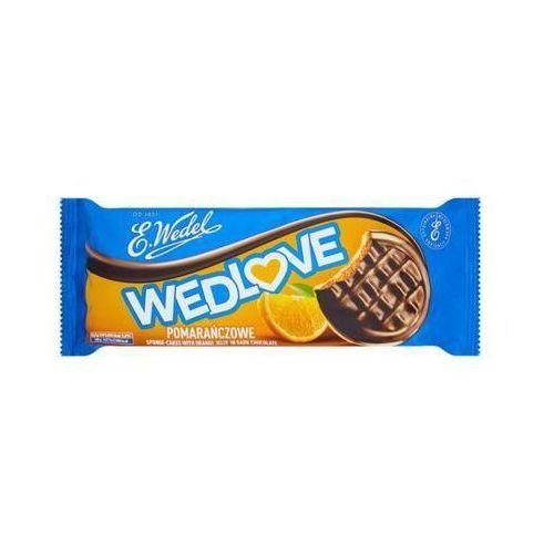 E. WEDEL 147g WedLove Pomarańczowe biszkopty z galaretką owocową oblane czekoladą