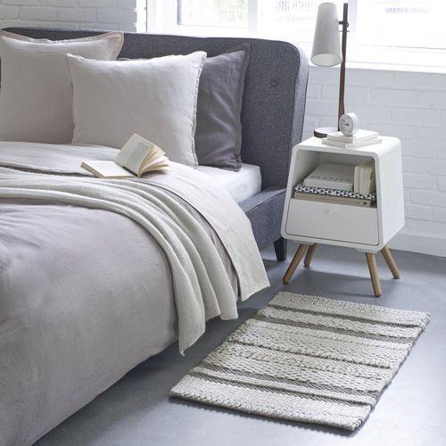 Dywanik przyłóżkowy z wełny i bawełny, zróżnicowana faktura, Lidias - produkt dostępny w La Redoute