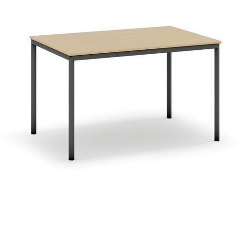 Stół do jadalni i stołówki, ciemnoszara konstrukcja, 1200x800 mm, brzoza