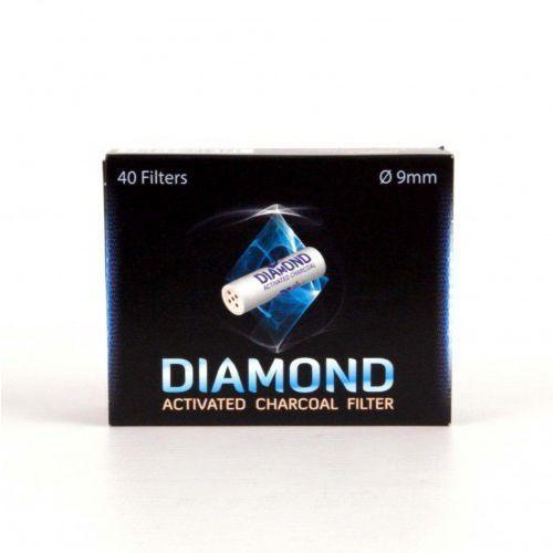 Filtr fajkowy Węglowy 9 mm Filtry do fajki Diamond 40 szt Mr Bróg
