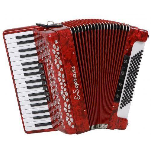 969 kk 37/3/7 96/5/4 akordeon (czarny, czerwony miech) marki E.soprani