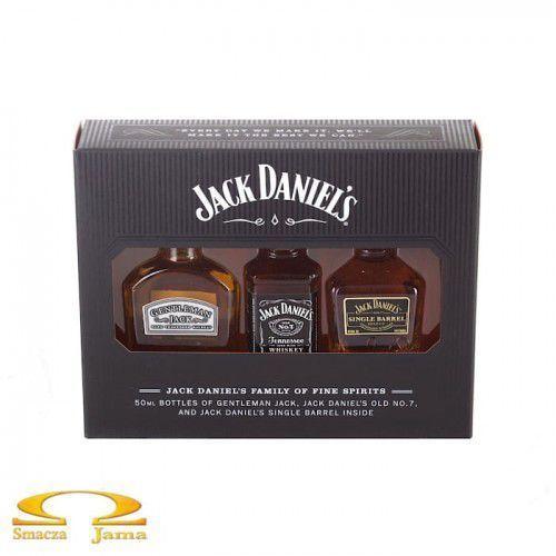 """Zestaw miniaturek whiskey jack daniel's zestaw """"rodzina w komplecie"""" 3x0,05l marki Jack daniel distillery"""
