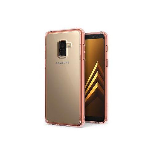 Samsung Galaxy A8 (2018) - etui na telefon Ringke Fusion - różowy