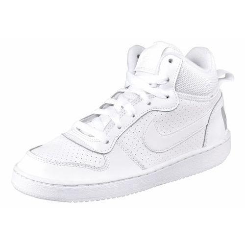 Nike Sportswear COURT BOROUGH Tenisówki i Trampki wysokie weiß/hellgrau, kolor biały