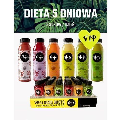 Dieta Sokowa 5 dniowa Vip / Dieta sokowa / Detoks sokowy, 5dni - 30sok +15shot+ 3shot Free