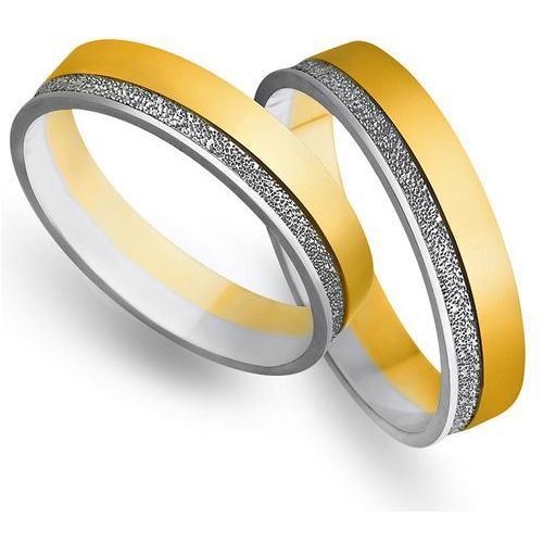 Obrączki ślubne z żółtego i białego złota 5mm - o2k/077 wyprodukowany przez Świat złota