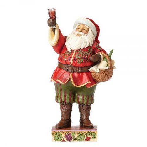 """Jim shore Mikołaj z toastem """"za cudowne święta"""" toasting traditions 4058788 (santa with wine) figurka ozdoba świąteczna"""