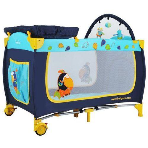 Łóżeczko turystyczne z wyposażeniem niebieskie TUKAN - produkt dostępny w Bliżej Ciebie