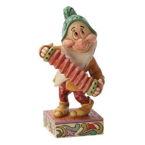 Jim shore Krasnoludek nieśmiałek figurka affable accordionist (bashful) śnieżka i krasnoludki a25831 figurka dekoracja pokój dziecięcy choinka