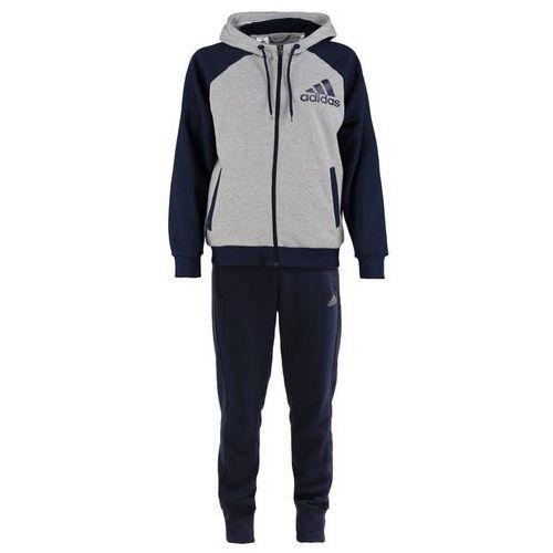 adidas Performance Dres medium heather grey/collegiate navy - produkt z kategorii- dresy męskie komplety
