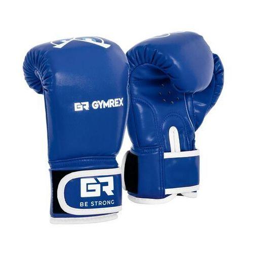 Gymrex Rękawice bokserskie dla dzieci - niebieskie - 4 oz