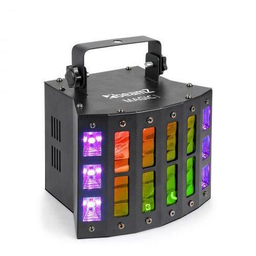 Beamz magic 1, projektor derby, świetlny efekt stroboskopowy/ultrafioletowy, 7 kanałów dmx, kolor czarny (8715693301601)