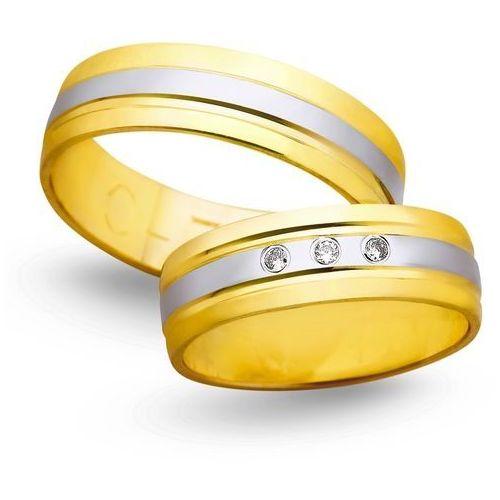 Obrączki z żółtego i białego złota 6mm - O2K/038 - produkt dostępny w Świat Złota