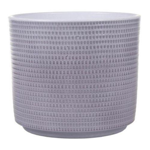 Osłonka doniczki Cermax Calla cylinder 12 cm szary lazur (4013738106544)