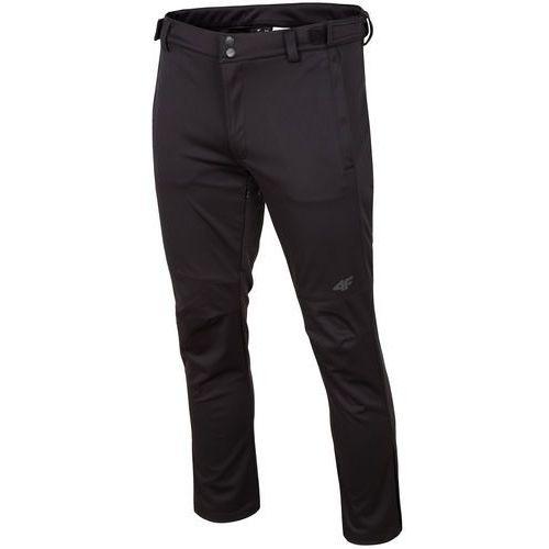 Spodnie trekkingowe męskie SPMT202R - głęboka czerń, kolor czarny